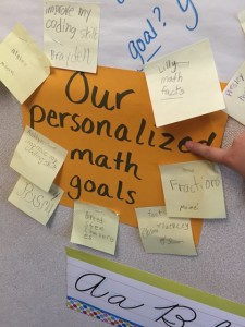 Personalized math goals