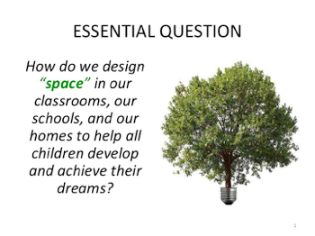 How do we design space in our classrooms, our schools, and our homes to help all children develop and achieve their dreams?