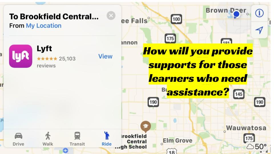 How will you provide supports for those learners who need assistance?